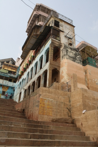 During the monsoon, the river rises and covers the ghats almost completely.