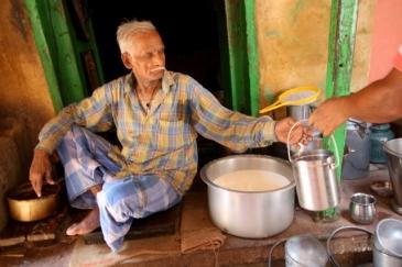 Man selling milk