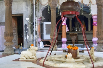 Hindu temple in a Haveli courtyard