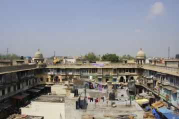 View from a rooftop at Khari Baoli spice market